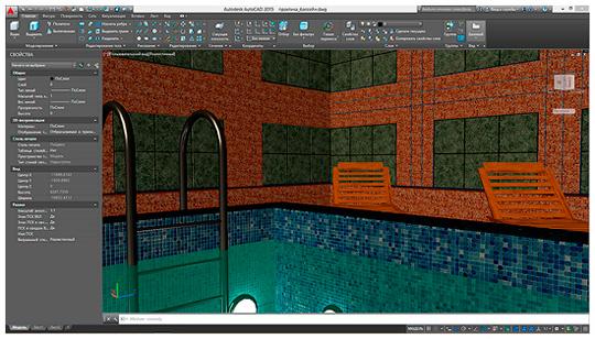 моделирование сцен с визуализацией стен в AutoCAD
