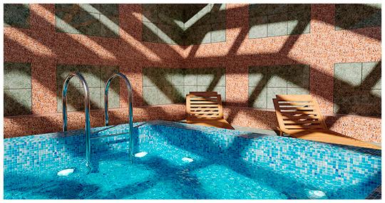 визуализация и постобработка интерьера на примере бассейна