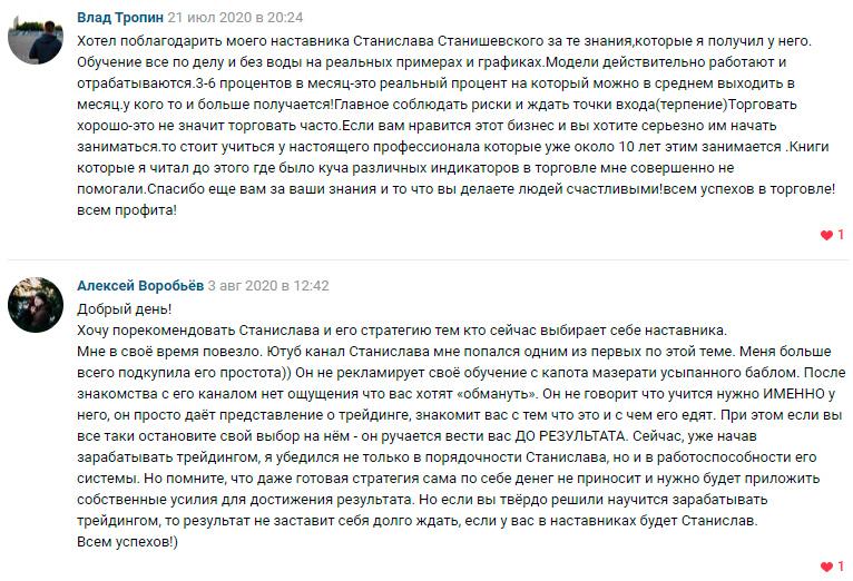 Отзывы о трейдере Станиславе Станишевском
