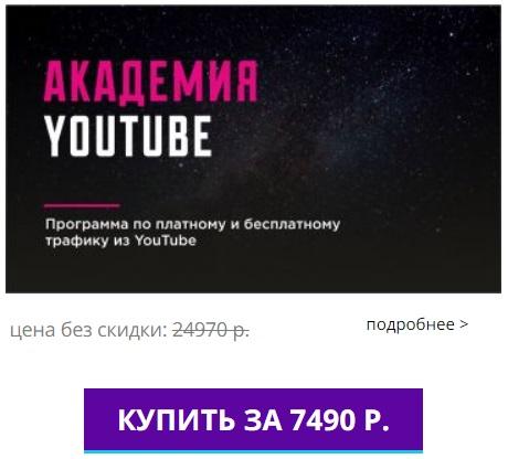 Курс Академия Youtube Алексей Дементьев скидка