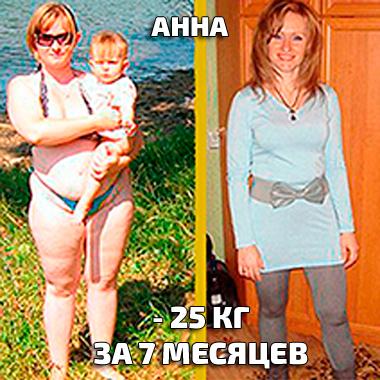Анна сбросила 25 кг на диете Татьяны Малаховой Будь стройной