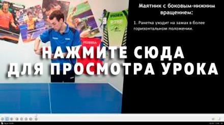 Техника маятника с боковым-нижним вращением - видео Артема Уточкина