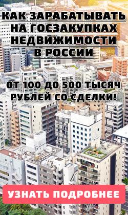 БЕСПЛАТНЫЙ МАСТЕР-КЛАСС - Как заработать на госзакупках недвижимости в России