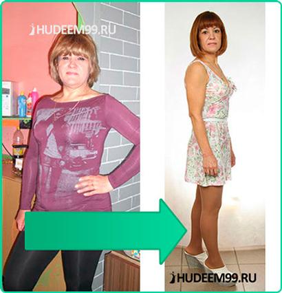 Результат участницы тренинга по похудению Галины Гроссман - Наталья Садковская