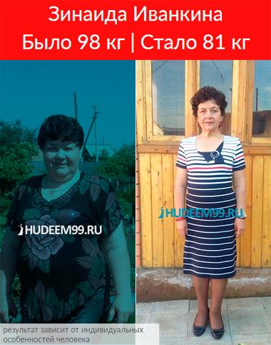 Диета Галины Гроссманн - было 98, стало 81 кг