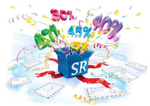 Скидки на услуги сервиса умных почтовых email-рассылок Smartresponder.RU