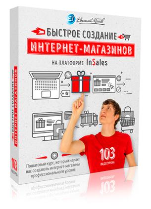 Видеокурс Быстрое создание интернет-магазинов на платформе InSales - Евгений Попов